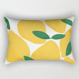 lemon mediterranean still life Rectangular Pillow