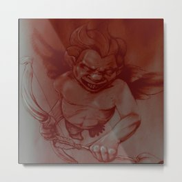 Evil Cupid (Red) Metal Print