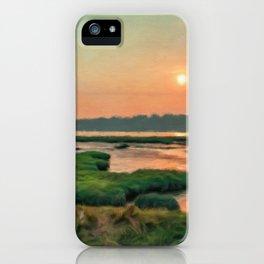 Wetlands under smoky sunset iPhone Case