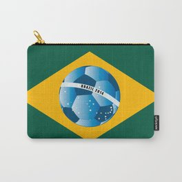 Brazil flag with ball Carry-All Pouch