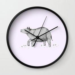Rhino Calf Wall Clock