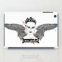 black swan iPad Cases featuring Black Swan by raeuberstochter