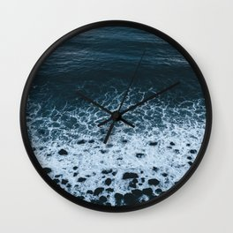 Iceland waves and shapes - Landscape Photography Wall Clock
