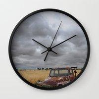 truck Wall Clocks featuring Truck by Adam Wood