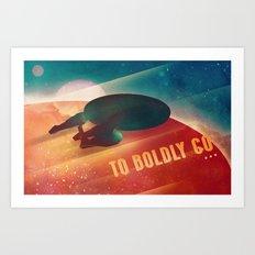 To Boldly Go Art Print