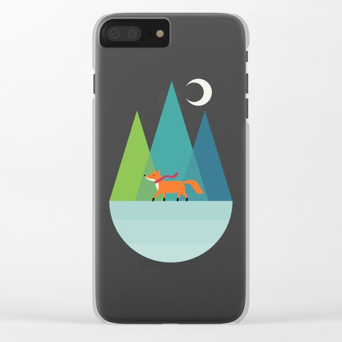 Winter Wish Clear iPhone Case