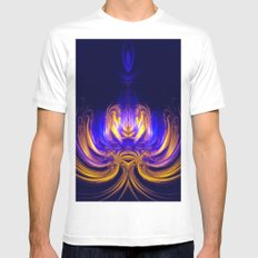 Meditation MEDIUM Mens Fitted Tee White
