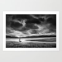 All alone on the Dovey Estuary Wales Art Print