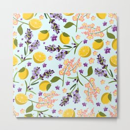 lemon lavender essentials Metal Print