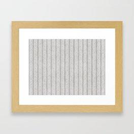 Mud cloth - Grey Arrowheads Framed Art Print