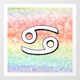Zodiac sign : Cancer Art Print
