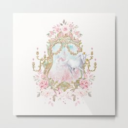 Unicorn Fairy Tale Enchantment Metal Print