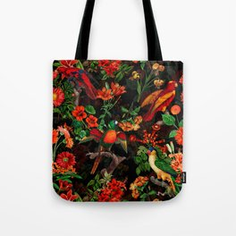 Vintage & Shabby Chic - Midnight Tropical Garden II Tote Bag