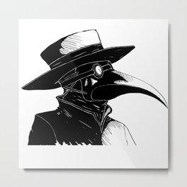 Plague Doctor Metal Print