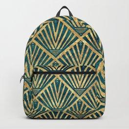 Stylish geometric diamond palm art deco inspired Backpack