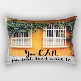 Cartagena de Indias street Rectangular Pillow
