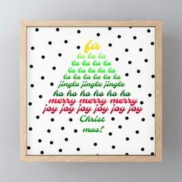 fa la la tree Framed Mini Art Print