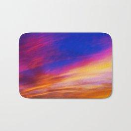rainbow clouds Bath Mat