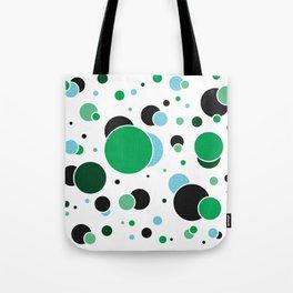 Fizzy Lifting Dots Emerald Tote Bag