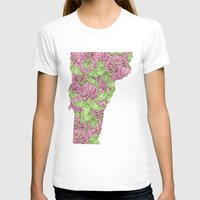 vermont T-shirts featuring Vermont in Flowers by Ursula Rodgers