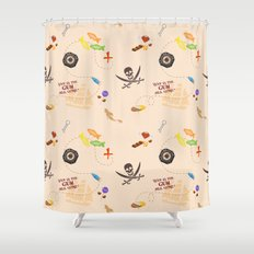 Pirates of the Candibbean  Shower Curtain