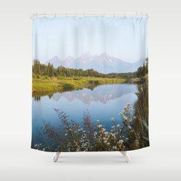Grand Teton Reflection Shower Curtain