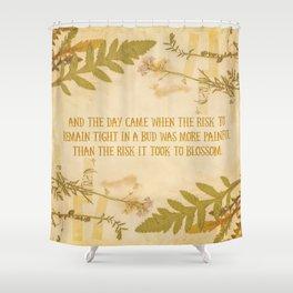 Autumn Anais Nin Quote Shower Curtain