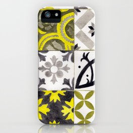 JD_tiled floor1–gouache iPhone Case