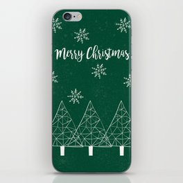 Merry Christmas Green iPhone Skin
