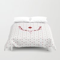 poker Duvet Covers featuring POKER DIAMONDS by Noly Riv Mir