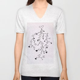 Vein of Hearts Unisex V-Neck