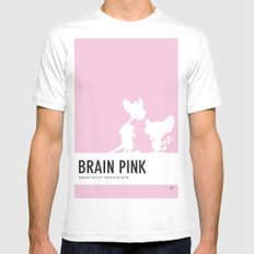 No01 My Minimal Color Code poster Pinky and the Brain MEDIUM Mens Fitted Tee White