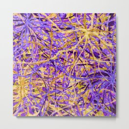 Purple and Gold Celebration Metal Print