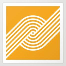 Incurve [Orange] Art Print