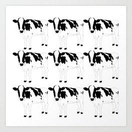 Cow Pattern Art Print