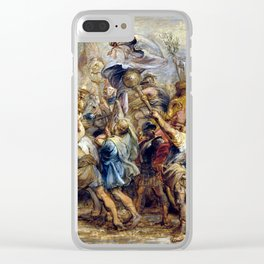 Peter Paul Rubens The Triumph of Henry IV Clear iPhone Case