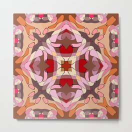 Pomegranate Patchwork Collection Print Metal Print