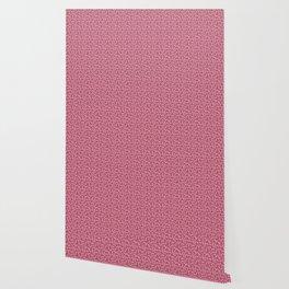 Pink Memphis Squiggle Pattern Wallpaper