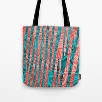 community Tote Bags featuring Gated Community by RingWaveArt