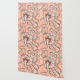 """""""The Face"""" - inspired by Keith Haring v. orange Wallpaper"""