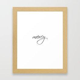 Mercy Wall Art Print Wall Print Word Art Print wall art prints inspirational motivational art Framed Art Print