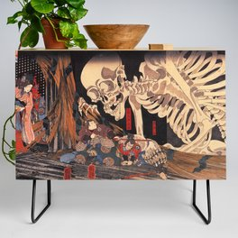 Takiyasha the Witch and the Skeleton Spectre, by Utagawa Kuniyoshi Credenza