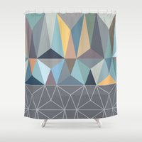 nordic Shower Curtains featuring Nordic Combination 31 by Mareike Böhmer