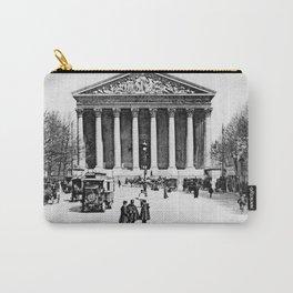 Vintage antique Paris Rue Royale Madeleine church Carry-All Pouch