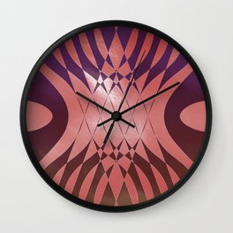 Angry Symmetry - Red Wall Clock