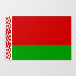 flag of belarus-belarusian,Minsk,Homyel,russia,snow,cold,chess,bear,rus,wheat,europe,easthern europe Canvas Print