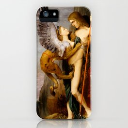 """Gustave Moreau """"Oedipus and the Sphinx"""" iPhone Case"""