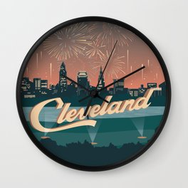 Cleveland Sign Wall Clock