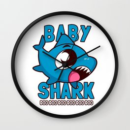 Baby Shark Doo Doo Doo Kids Wall Clock