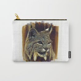 Canada Lynx Scratchboard Carry-All Pouch